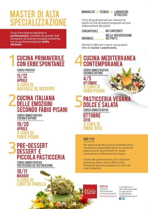 unione cuochi regione puglia - Master Cucina Italiana